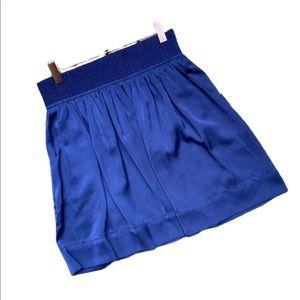 BANANA REPUBLIC Petite Royal Blue Pocketed Skirt